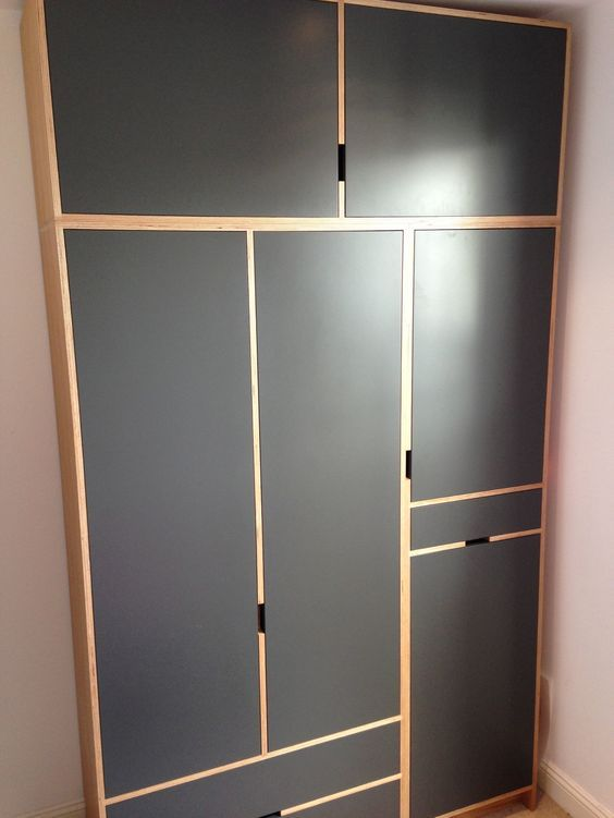 Wardrobe Made From Oak Veneered Finnish Birch Ply With Handles Routed The Carcass Doors Are Spray Painted For Ultra Smooth Finish