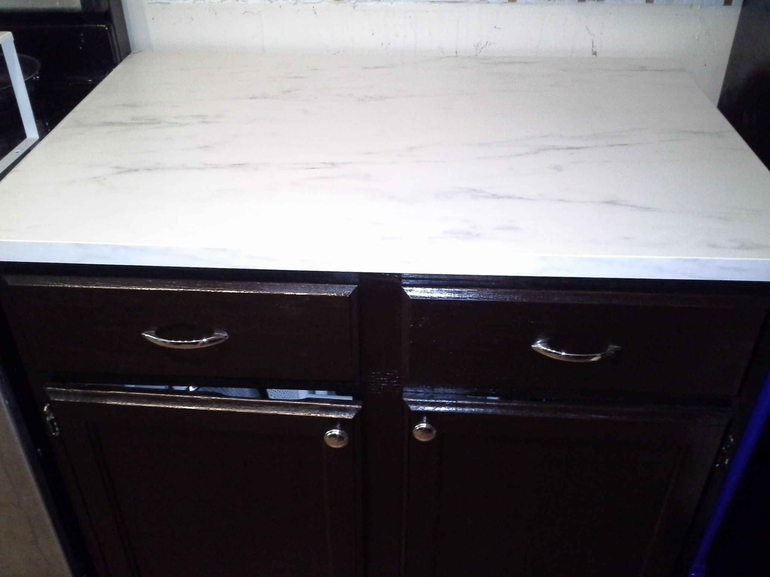 Stained cabinets with General Finishes Java Gel Stain. New ...