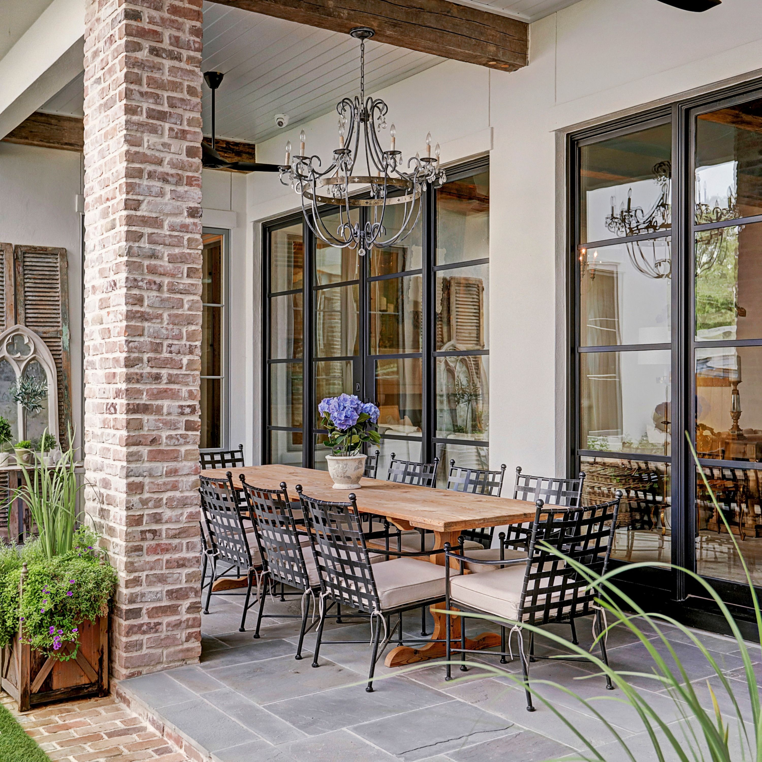 Outside views from dining spaces both inside and out are ... on Living Spaces Outdoor Dining id=21625