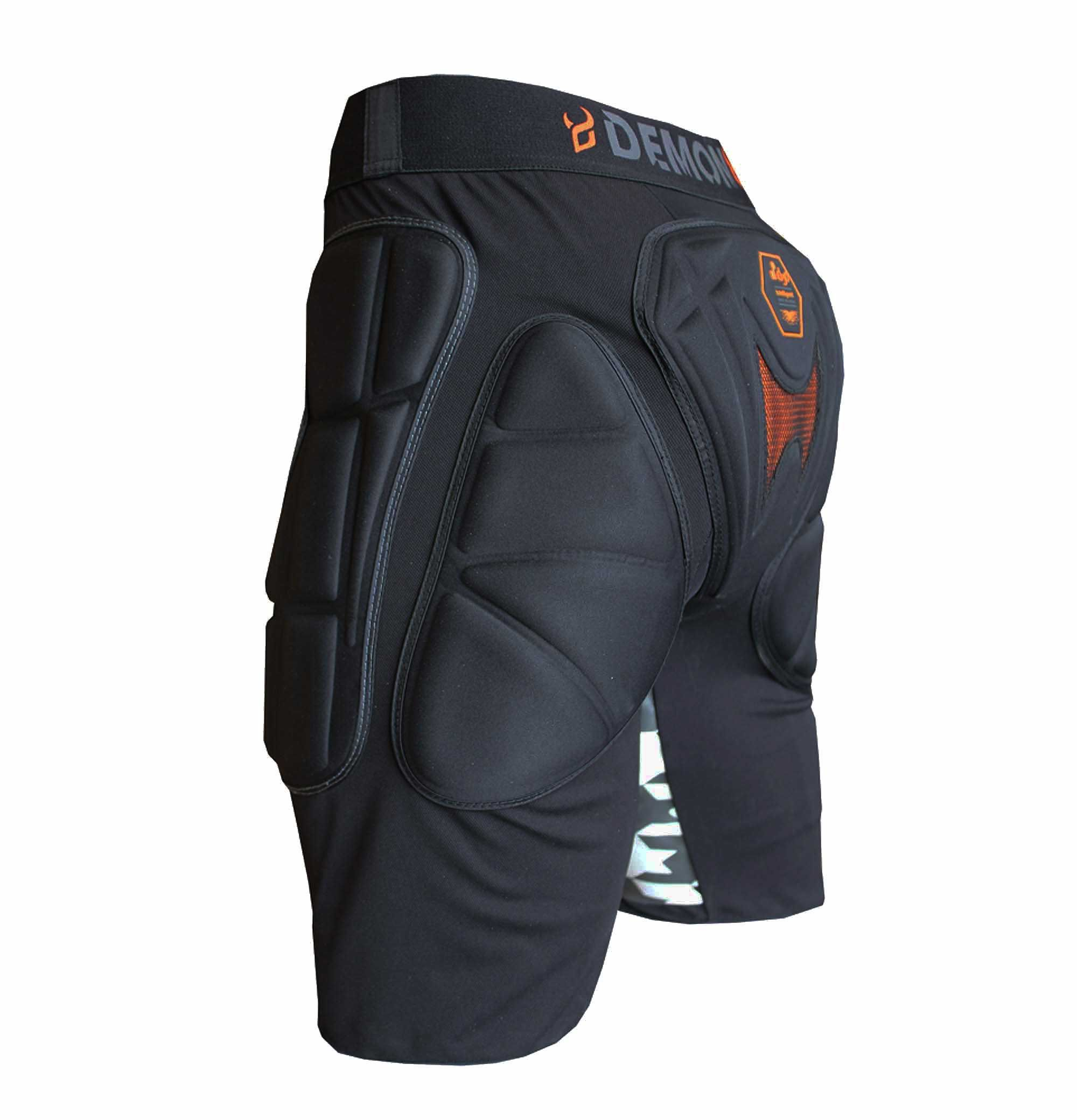 demon flex force x d3o impact shorts in black