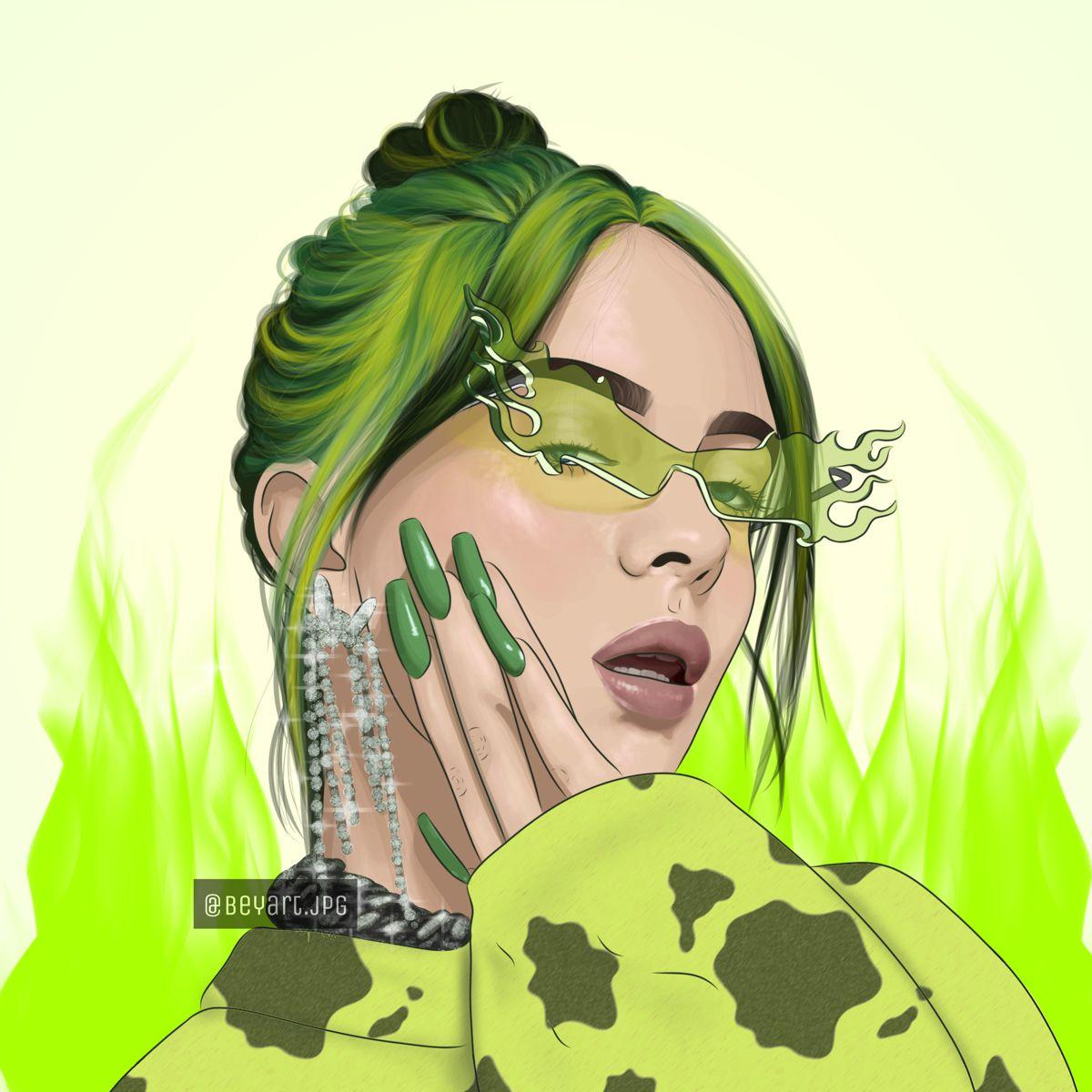 Billie Billie Eilish Celebrity Drawings