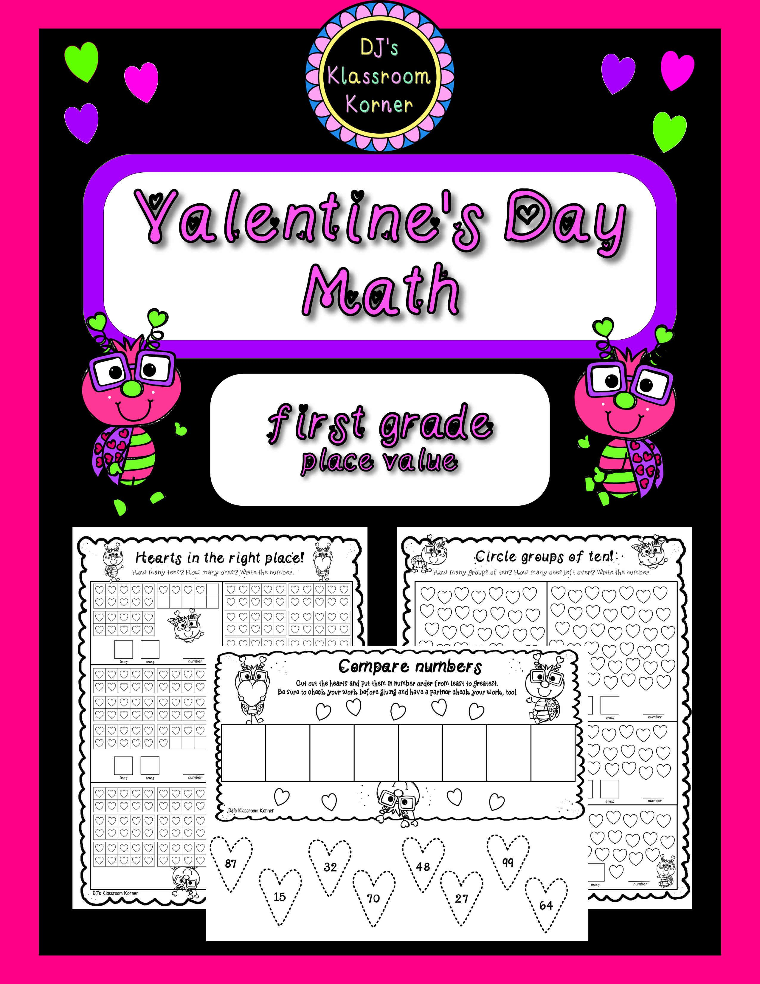 Valentine S Day 1st Grade Place Value