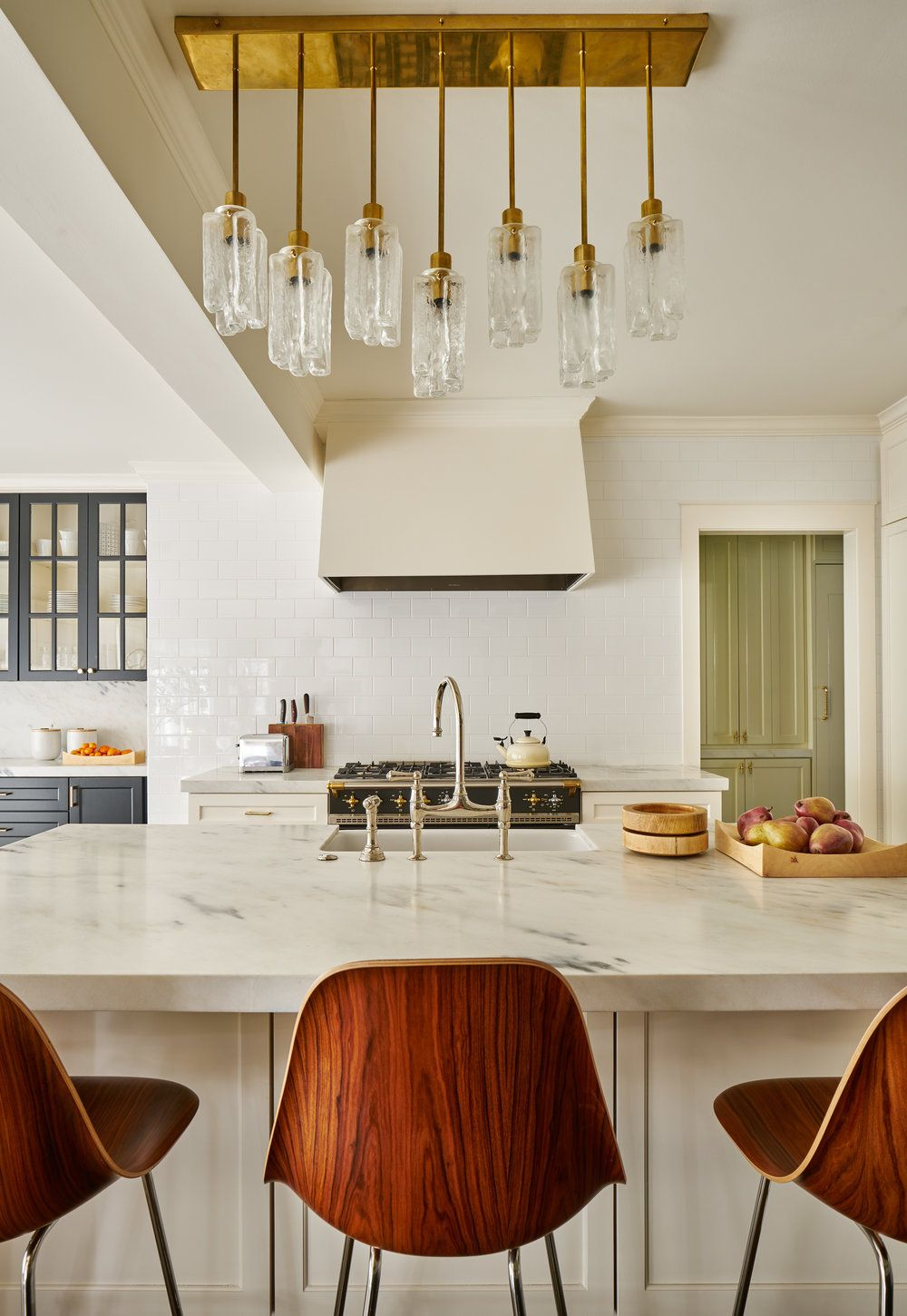 Crystal like chandelier for the kitchen island designed by carrie crystal like chandelier for the kitchen island designed by carrie hatfield arubaitofo Gallery
