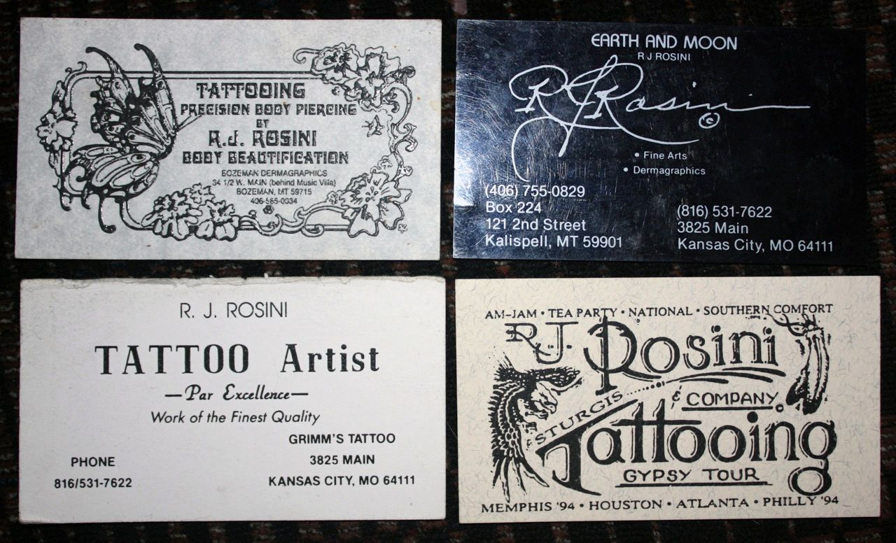Tattoo Shop Business Cards | tattoo artist, machine-builder and ...