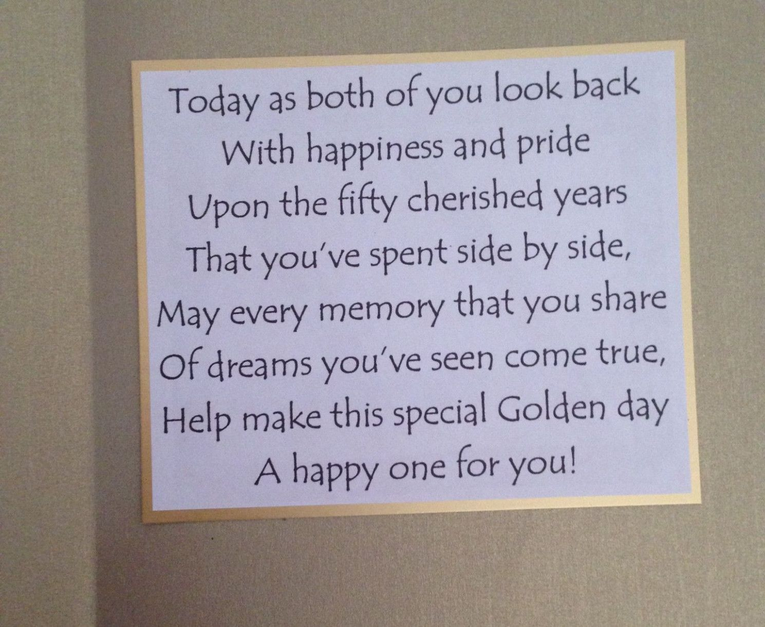 8 What To Write In A 50th Anniversary 50th Anniversary Cards