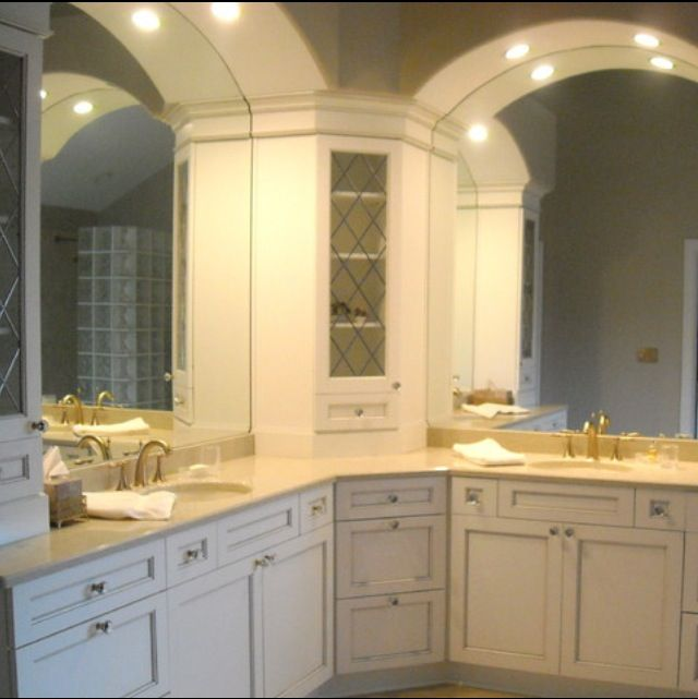 L shaped master bathroom countertops with storage for L shaped master bathroom layout