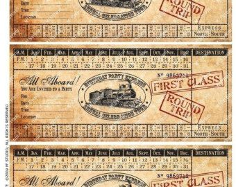 child s train tickets template google search adventure journal