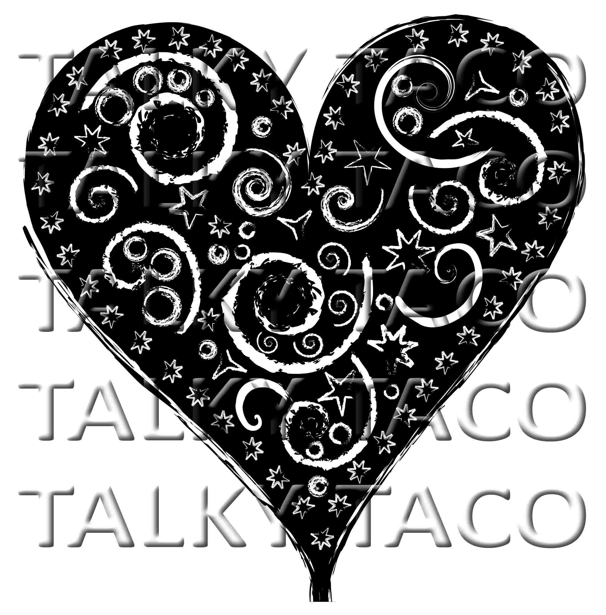 Folk Art Heart tees and products: http://www.cafepress.com/talkytaco/11084826