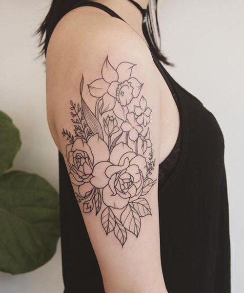 Super Elegant Floral Tattoos On Arm For Women Flower Tattoo Arm Tattoos For Women Floral Tattoo