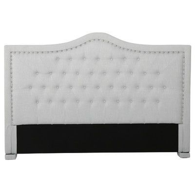 Darby Home Co Sampson Upholstered Panel Headboard Size: Full/Queen
