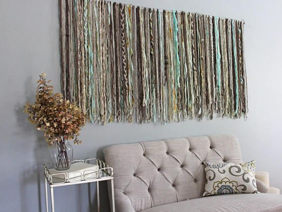 Make A Bold Statement With This Large Wall Hanging Tapestry This Yarn Wall Hanging Will Add Style Boho Living Room Decor Boho Wall Hanging Hanging Wall Decor