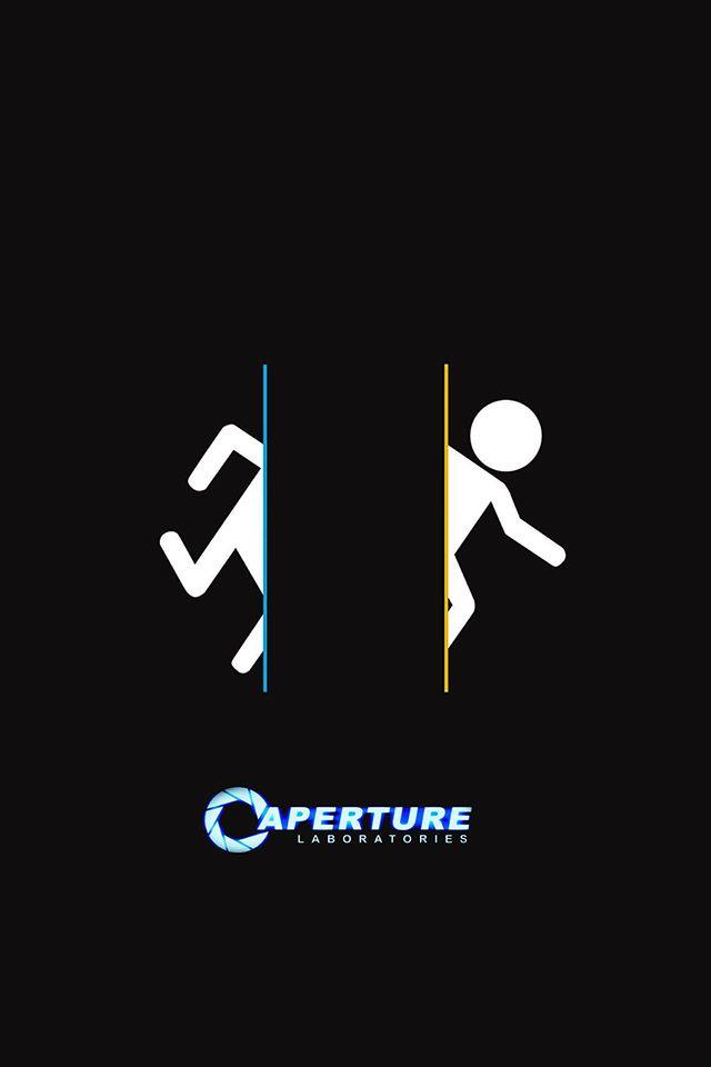 Portal Aperture Parallax Hd Iphone Ipad Wallpaper Ipad Wallpaper Aperture Science Portal