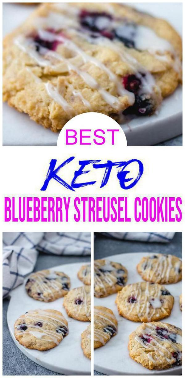 BEST Keto Cookies! Low Carb Keto Blueberry Streusel Cookies Cookie Idea – Quick & Easy Ketogenic Diet Recipe – Completely Keto Friendly