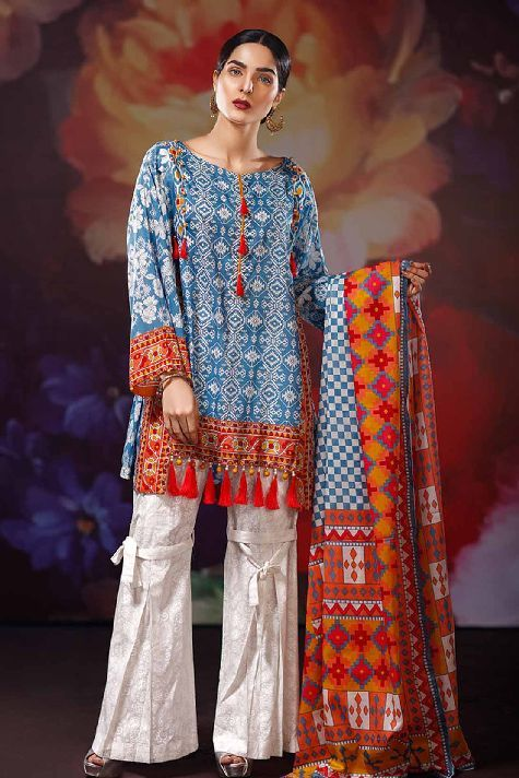 167beff89ab5 Warda Latest Summer Dresses Printed   Embroidered Collection 2019 ...