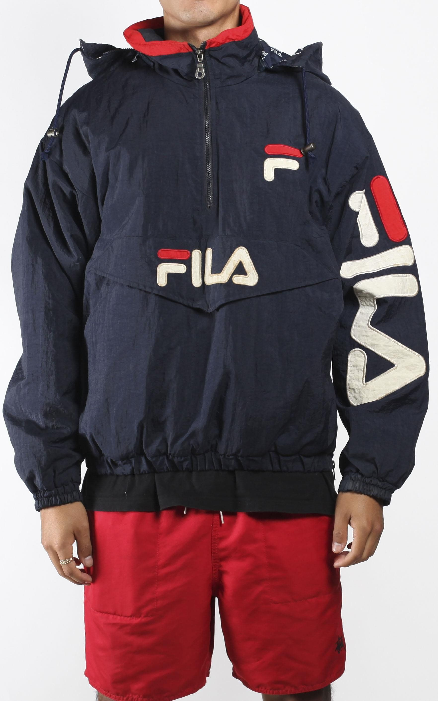 47c3be9e141 Vintage FILA Windbreaker Jacket Sz L