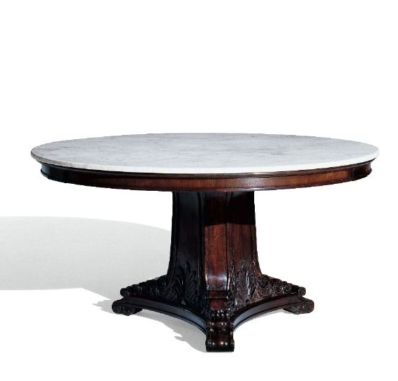 Ralph Lauren New Bohemian Round Dining Table With Marble Top
