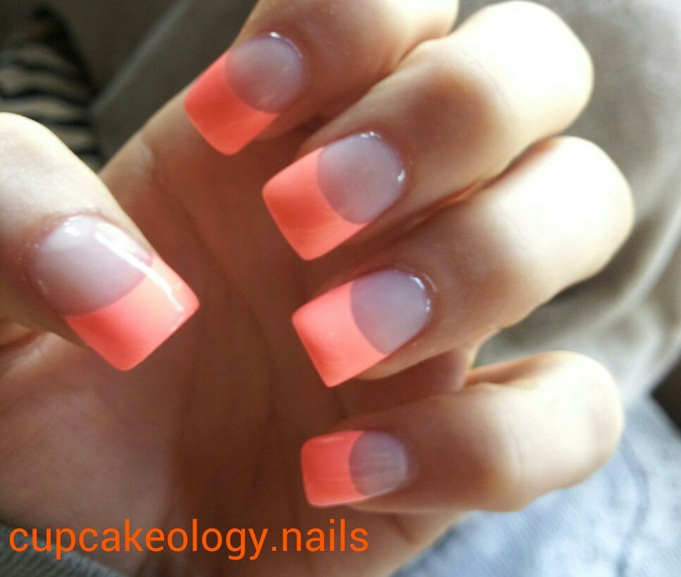 Neon French Tip Nail Designs: Flip Flop Fantasy French Tip Nails