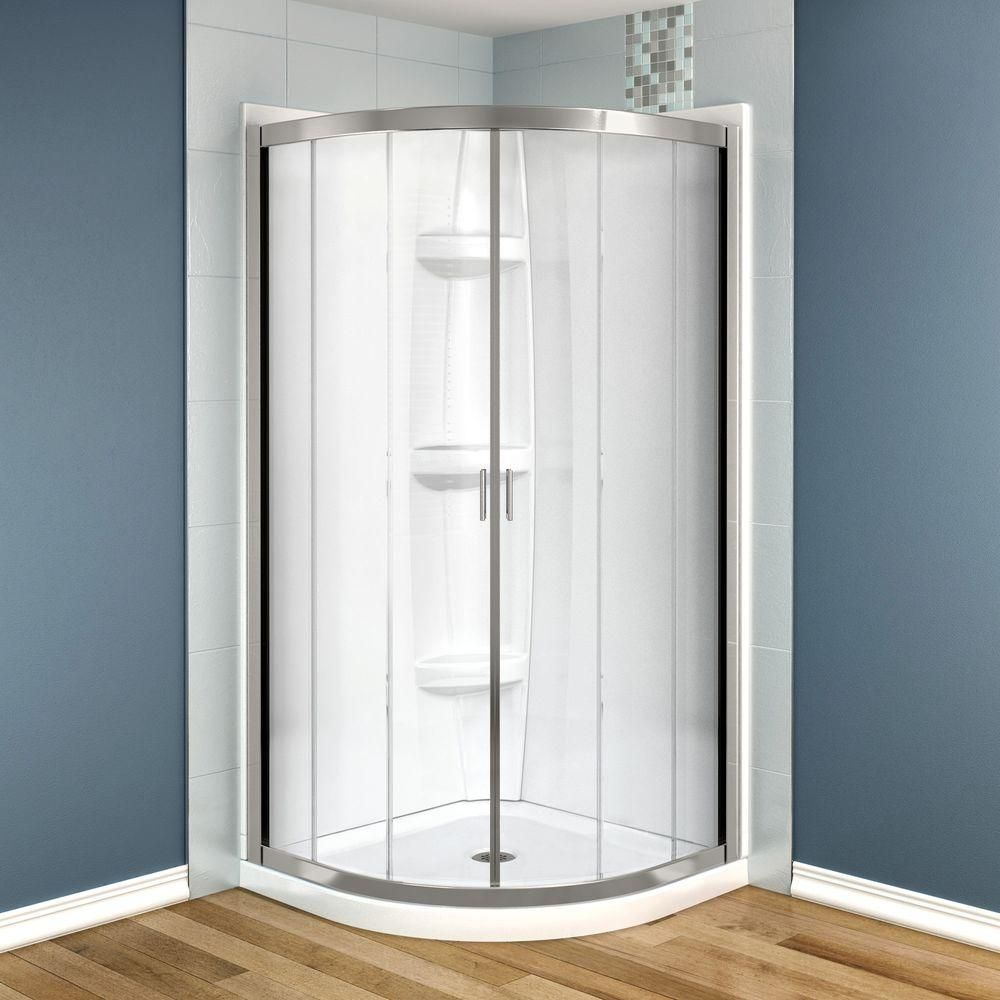 MAAX Intuition Neo-Round 32 in. x 32 in. x 73 in. Shower Stall in ...