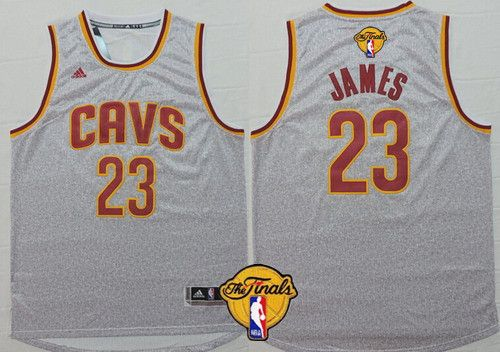 Men s Cleveland Cavaliers LeBron James Revolution 30 Swingman 2014 New Gray  Jersey 37fe90640