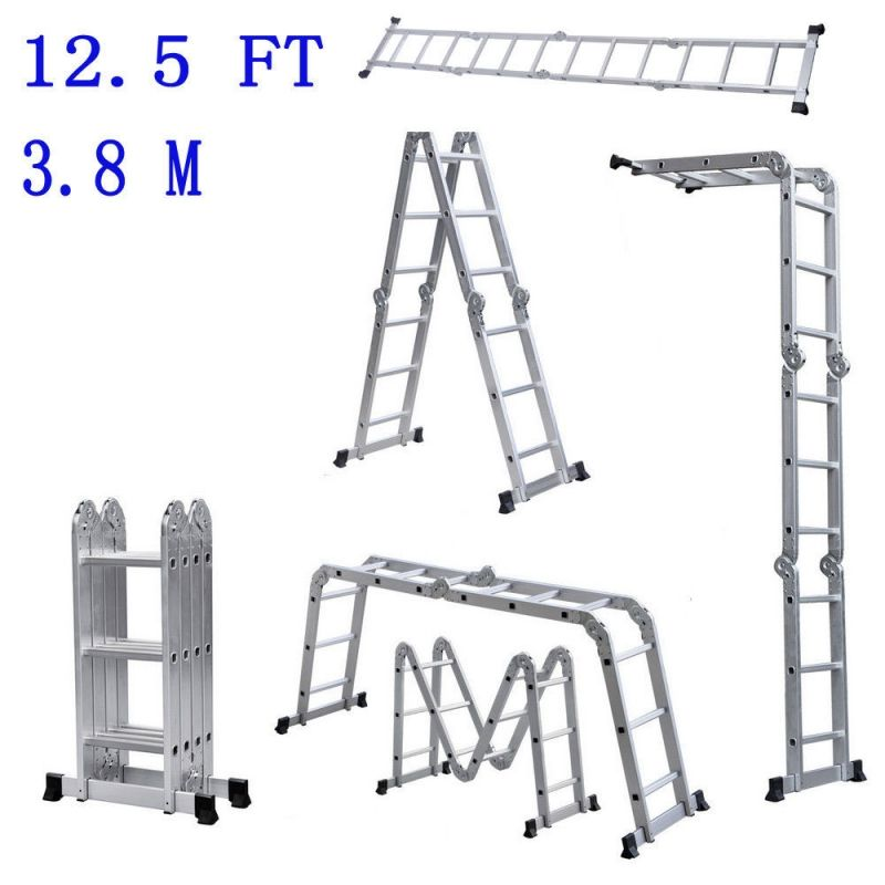 Free 4 Day Shipping With Tmart Express Buy Scaffold Ladder Heavy Duty Giant Aluminum 12 5 Ft Multi Purpose F Folding Ladder Aluminium Ladder Telescopic Ladder