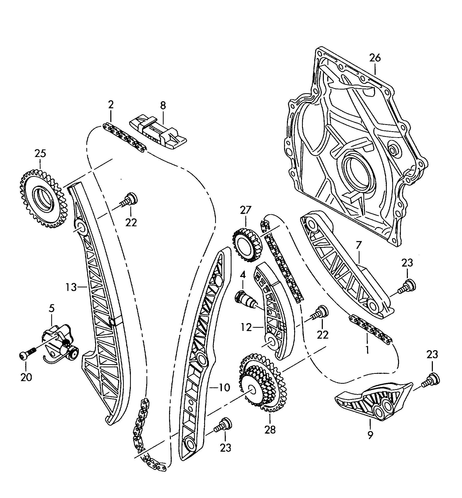 Timing Chain Timing Case Timing Chain Guide Rail Timing