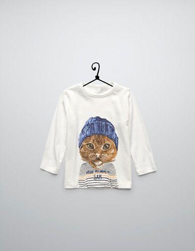 cafbd36ab animals t-shirt - T-shirts - Baby boy (3-36 months) - Kids - ZARA United  States