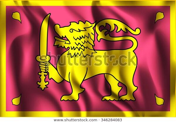 Sri Lanka Variant Flag Rectangular Shape Stock Vector