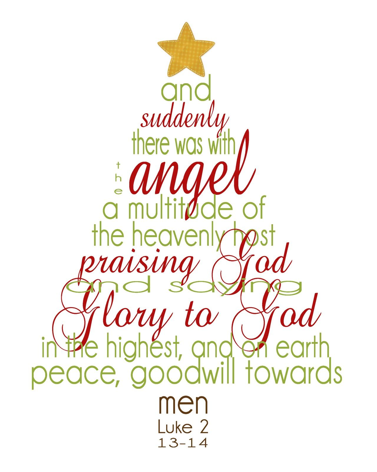 Simply Klassic Home Christmas Scripture Word Tree Printable