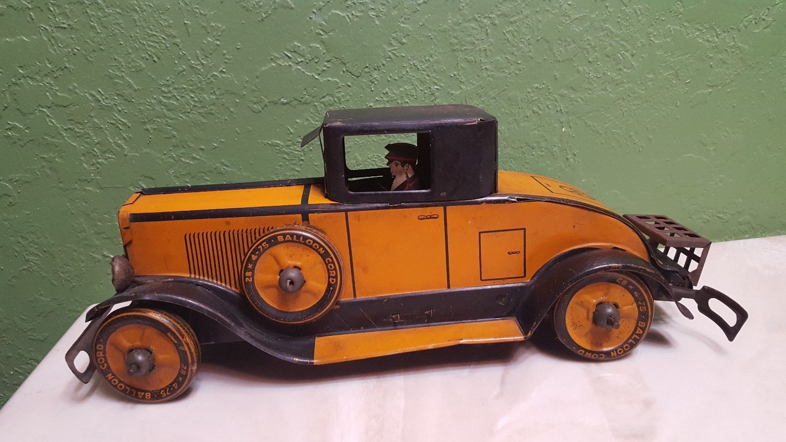 Marx 1931 Cadillac Coupe Tin Litho Pre War Windup Toy Car Look Old