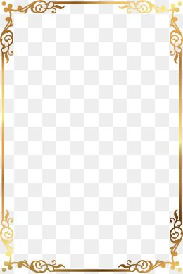 Vector Gold Pattern Frame Page Borders Design Gold Text Gold Pattern