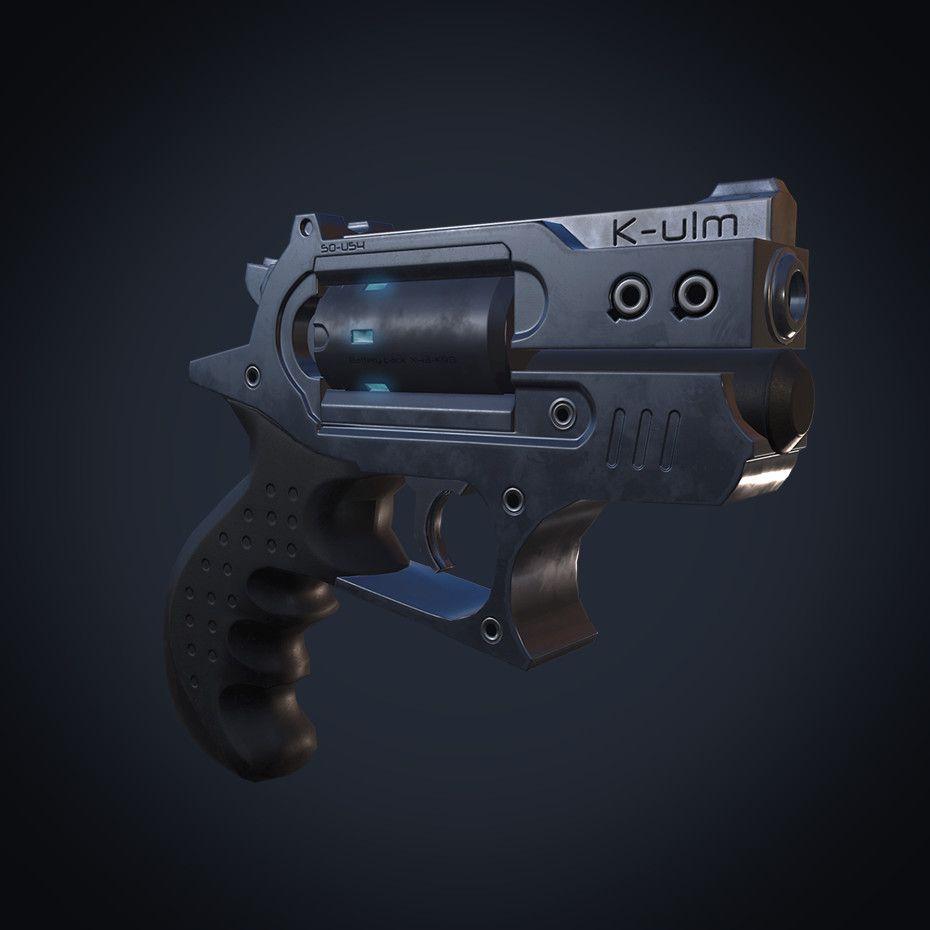 K-U1N Laser pistol, Martim Nina on ArtStation at https://www.artstation.com/artwork/z94kq