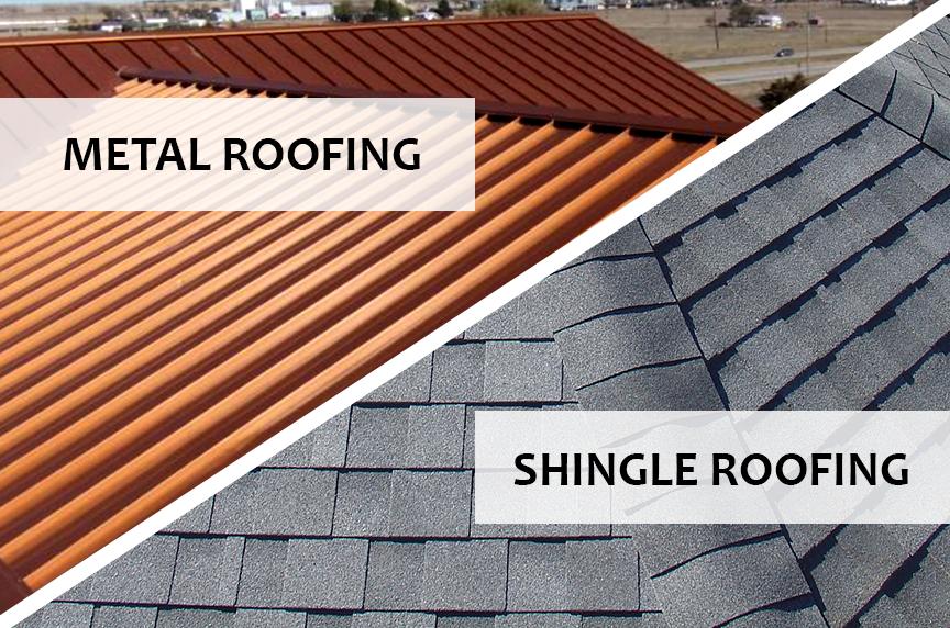 Metal Roofing Vs Shingle Roofing Metal Roof Cost Metal Shingle Roof Roof Cost