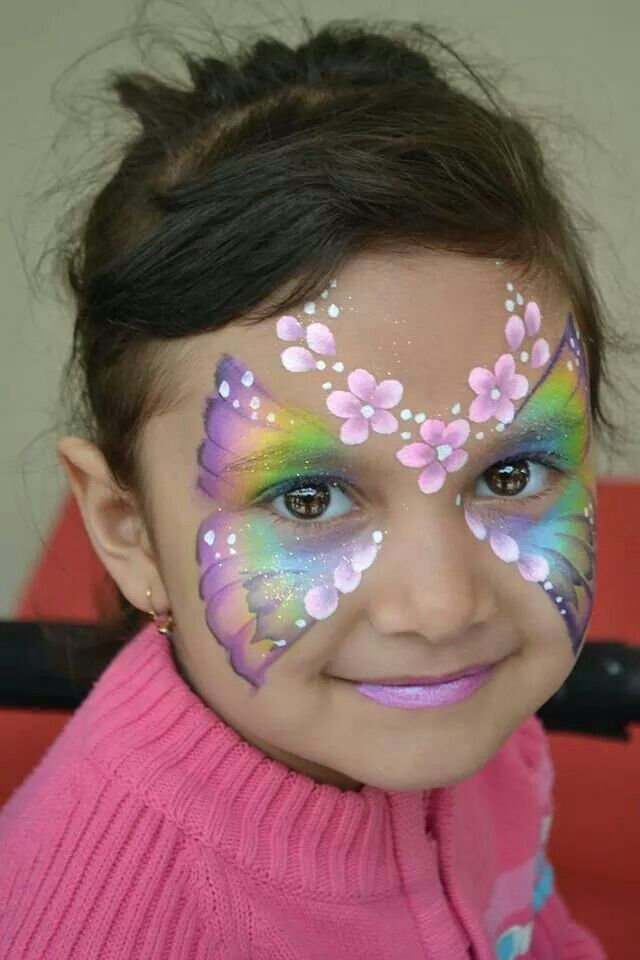 Pretty Face Paint Idea For Girls Butterfly Mask With -9610