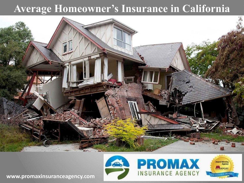 Average homeowners insurance in california insurance