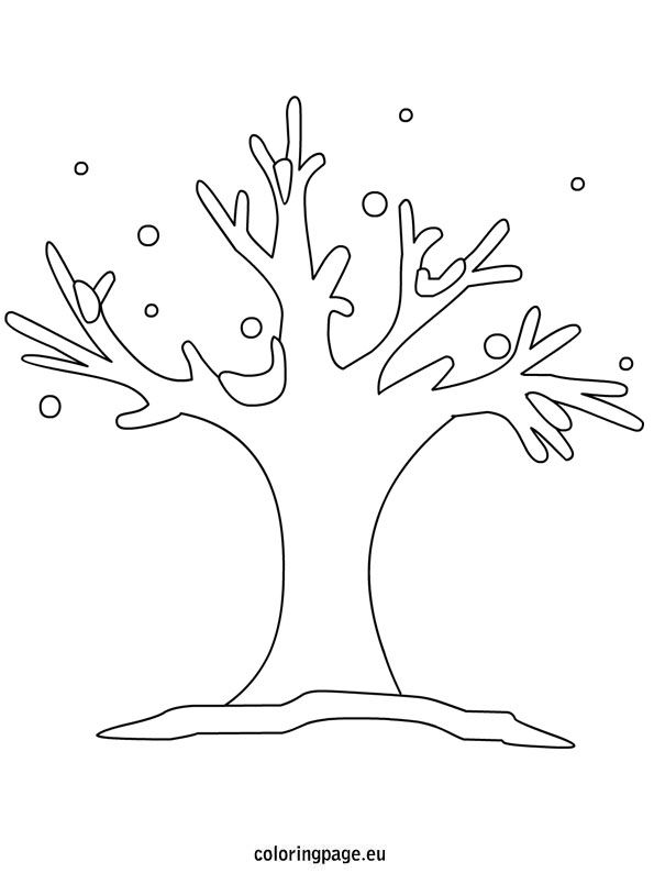 Tree Winter Coloring Page Tree Coloring Page Coloring Pages Winter Coloring Pages