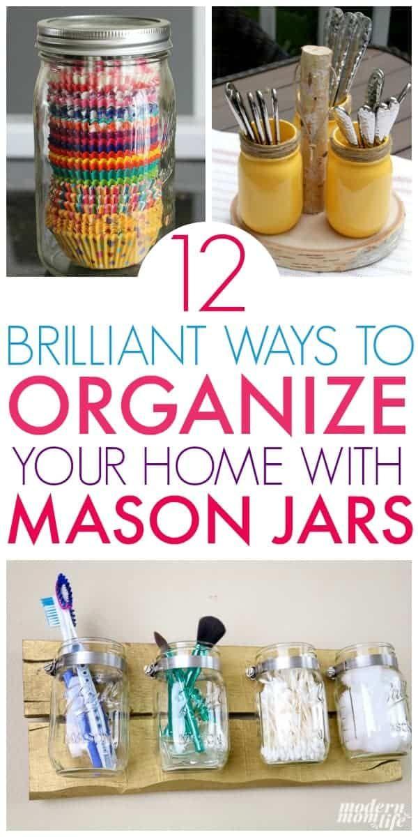 Mason Jar Organization Ideas You Must See #masonjarbathroom