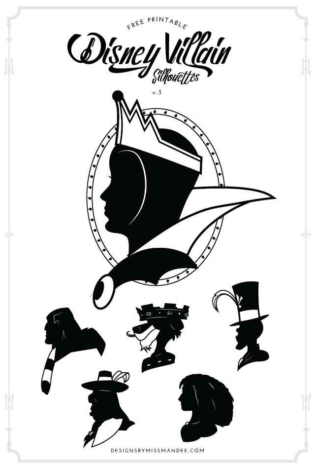 Disney Villain Silhouettes V 3 Designs By Miss Mandee Disney Silhouette Art Disney Silhouettes Disney Villains