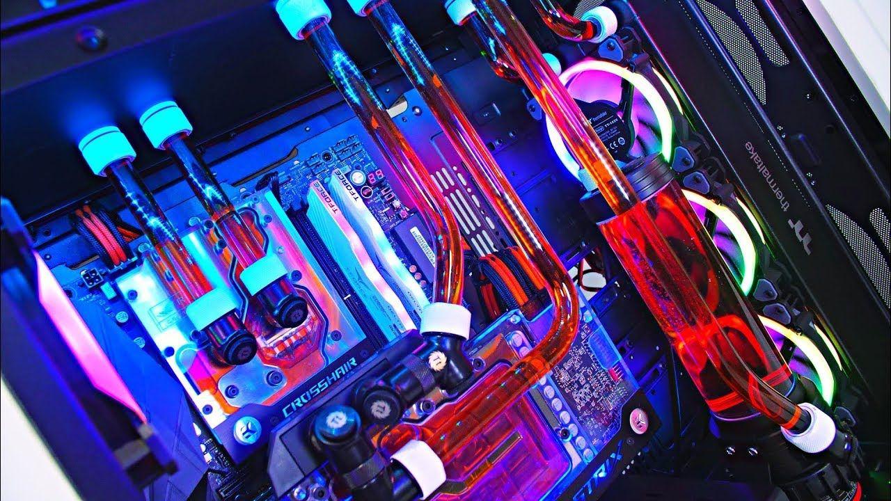 Epic 4600 Aud Custom Water Cooled Amd Gaming Pc Build Ultimate Time Lapse 2018 Gaming Pc Build Amd Gaming Pc Custom Pc