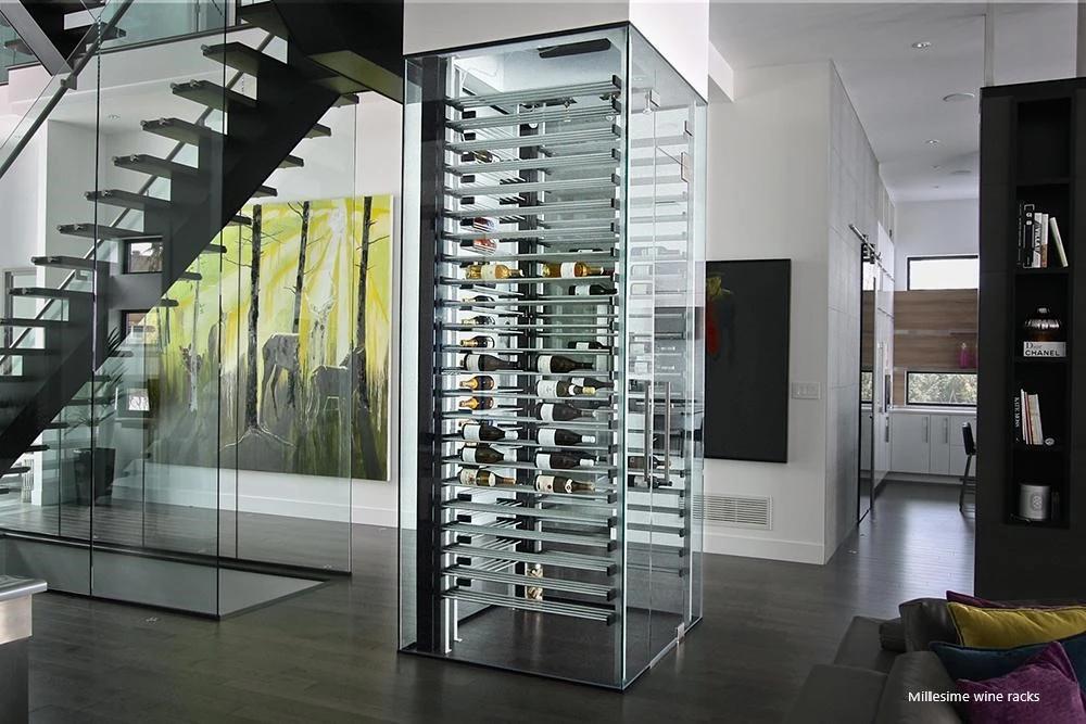 Cellier De Luxe En Verre Avec Images Armoire A Vin Cellier