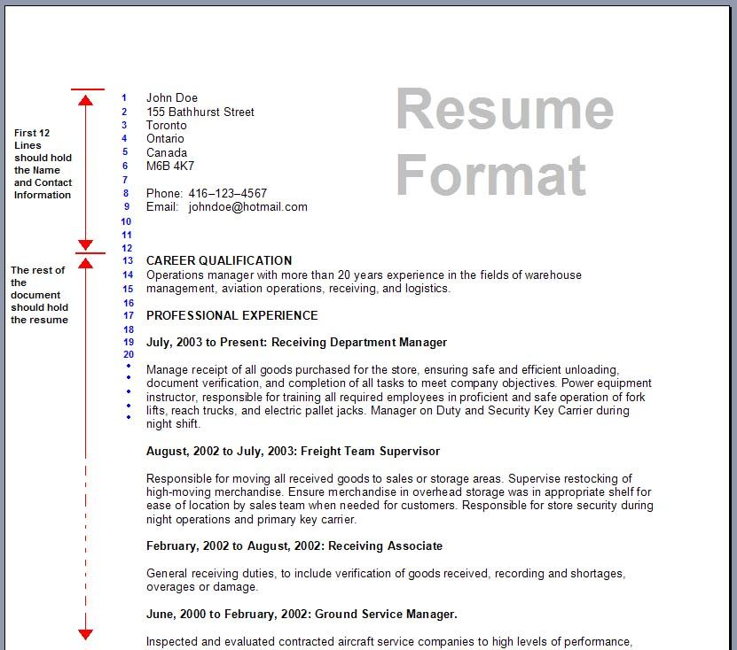 job application resume format for examples alexa Home Design - resume format canada