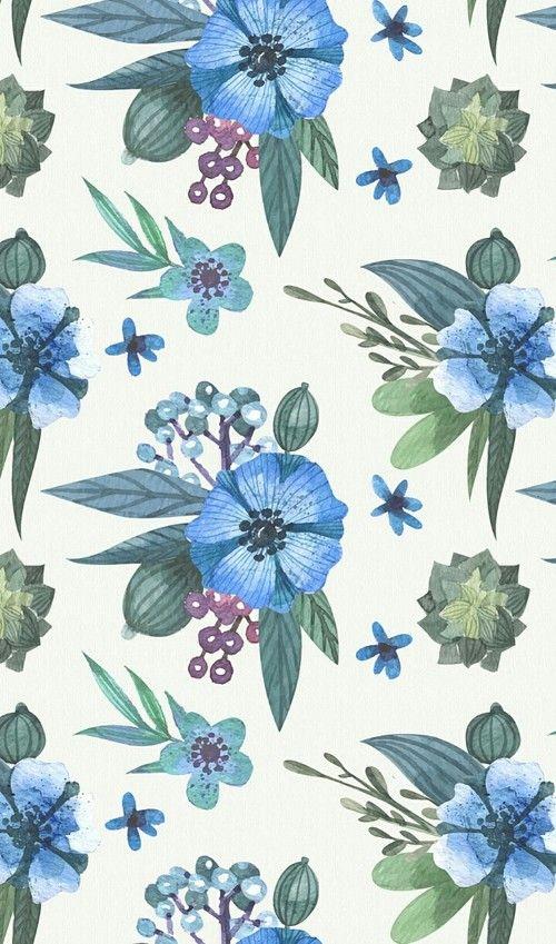 Imagem De Art Cartoon And Texture Blue Flowers Images Blue Flowers Flower Images Blue flower wallpaper cartoon