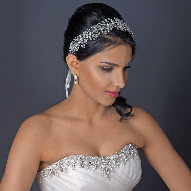 ce bijou de coiffure de mariage est parsem de perles deau douce de - Bijoux De Tete Mariage Oriental