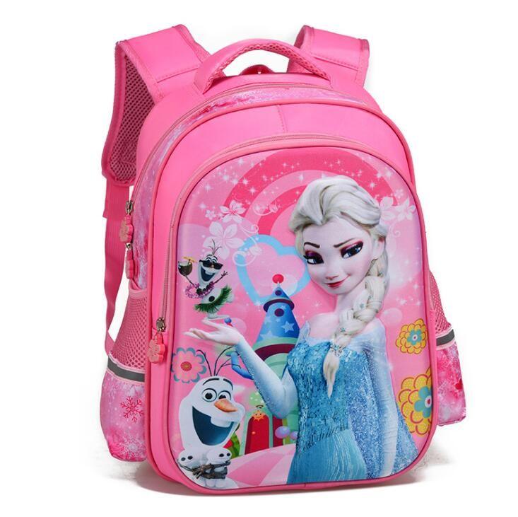 2019 Children School Bags Girls Orthopedic school Backpacks  princess Backpacks
