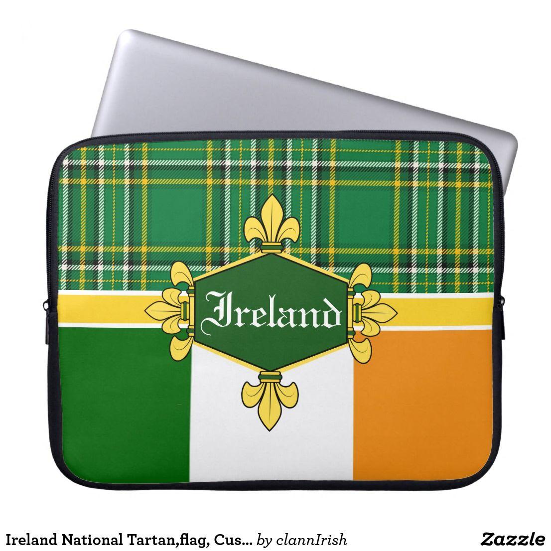 Ireland National Tartan,flag, Customize with name Laptop