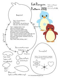 free penguin template - Google Search | Sewing | Pinterest ...