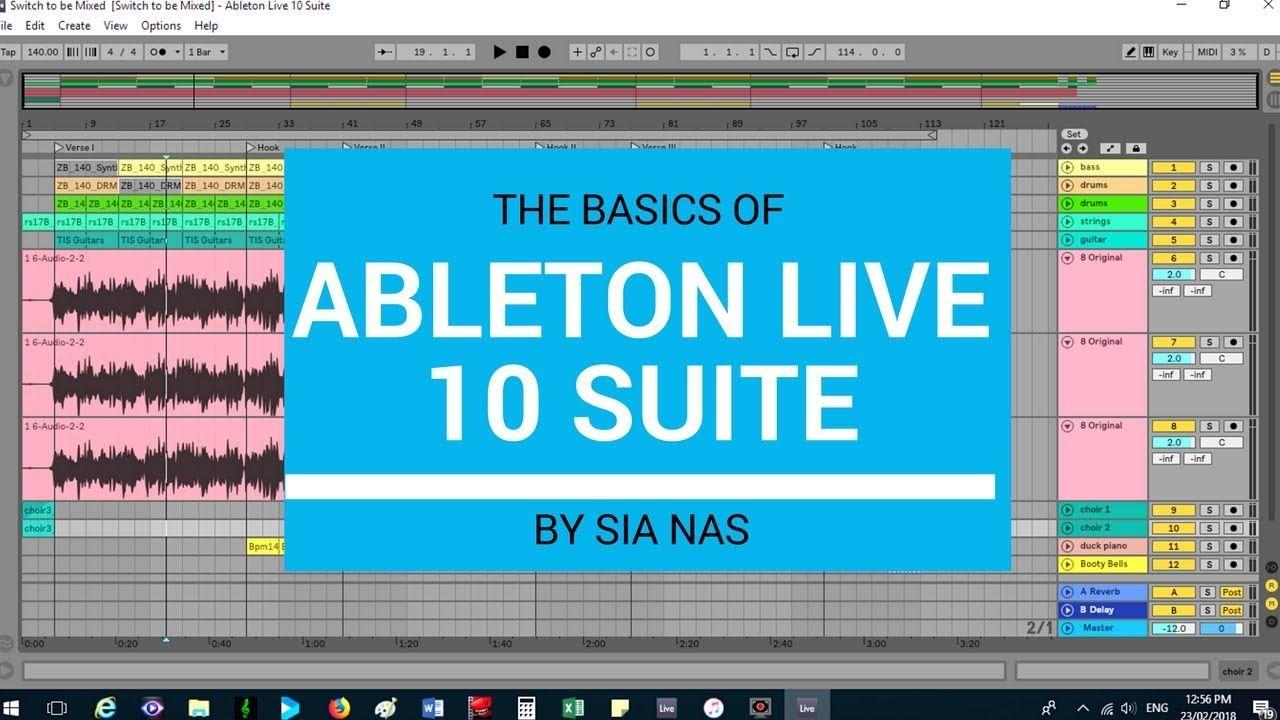 Basics Ableton Live 10 Suite Tutorial Ableton live