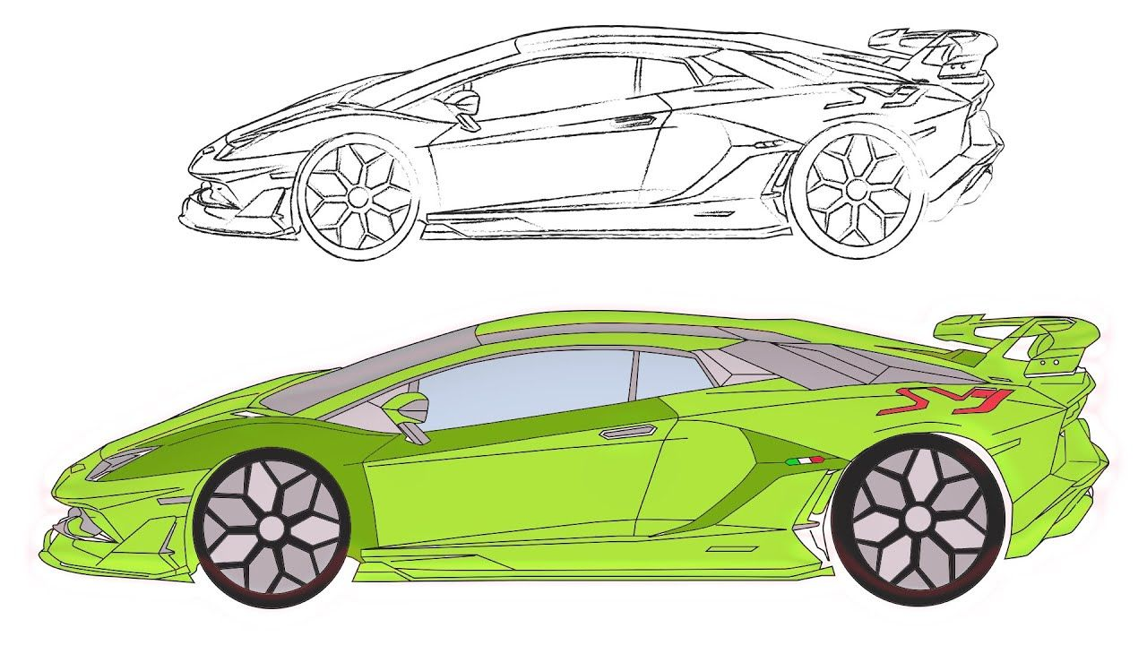 Lamborghini Aventador Svj 2019 Lamborghini Aventador Lamborghini Free Printable Coloring