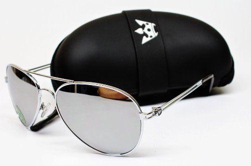 113489fc6 Triple Crown Aviator Sunglasses Silver Mirrored T01 W Original Case $11.95
