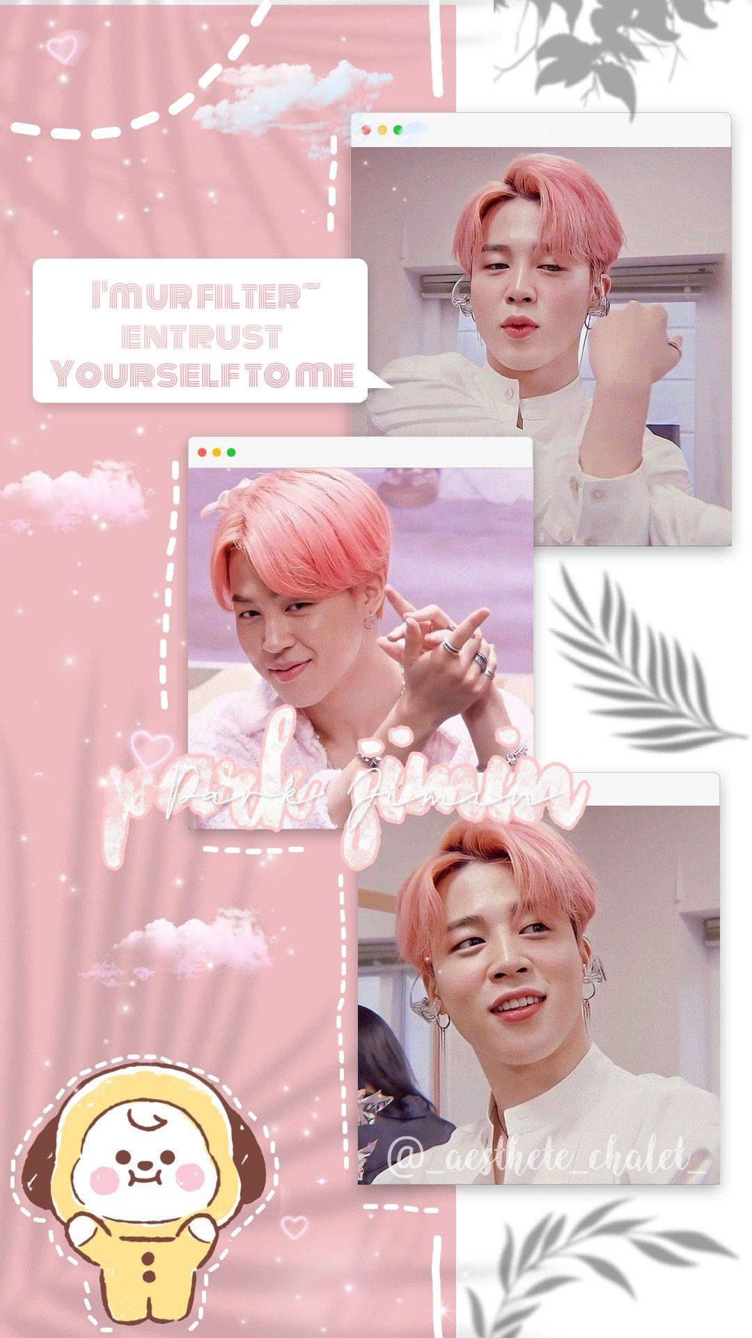 Bts Park Jimin Soft Pink Wallpaper Gambar Wallpaper Lucu Ungu