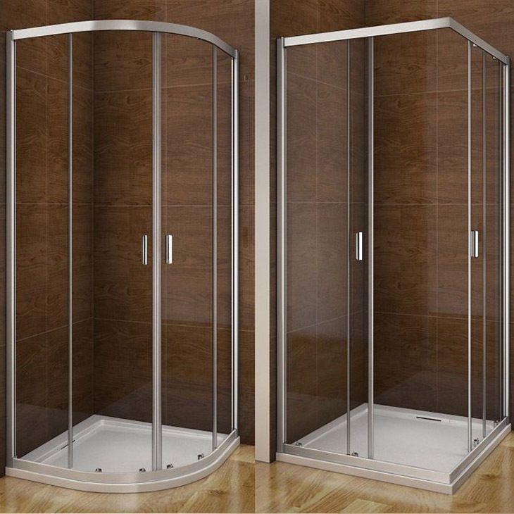 Aica Quadrant Corner Entry Shower Enclosure And Tray Glass Door Screen Cubicle Ebay Bathroom Remodel Small Shower Shower Enclosure Bathroom Shower Doors